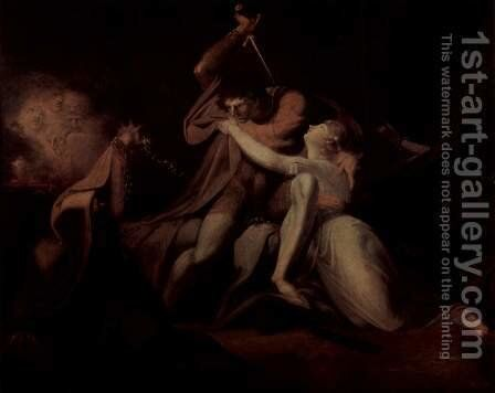 Percival, free Belisane of the magic of Urma by Johann Heinrich Fussli - Reproduction Oil Painting
