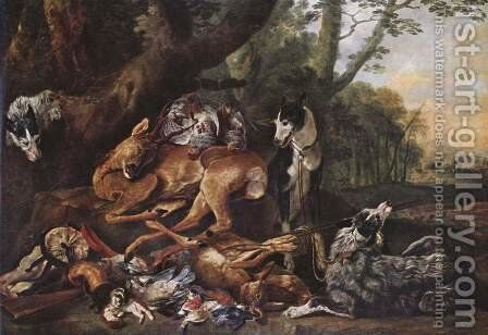 The hunting by Jan Fyt - Reproduction Oil Painting