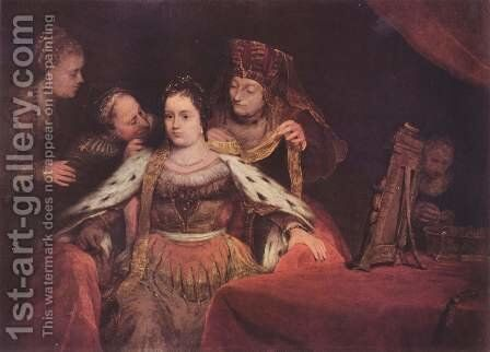 The Jewish Bride (Esther can decorate it) by Aert De Gelder - Reproduction Oil Painting