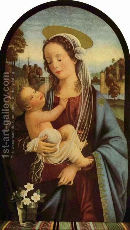 Madonna by Domenico Ghirlandaio - Reproduction Oil Painting