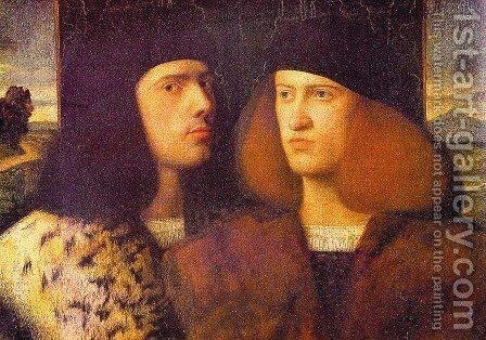 Portrait Of Two Young Men by Cariani - Reproduction Oil Painting