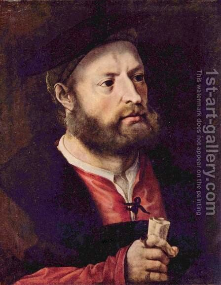 Portrait of a Man by Jan (Mabuse) Gossaert - Reproduction Oil Painting