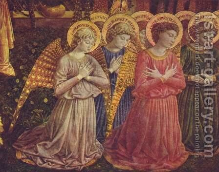 Adoring angels by Benozzo di Lese di Sandro Gozzoli - Reproduction Oil Painting