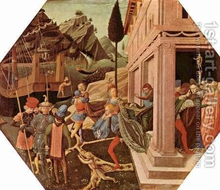 Abduction of Helen by Benozzo di Lese di Sandro Gozzoli - Reproduction Oil Painting