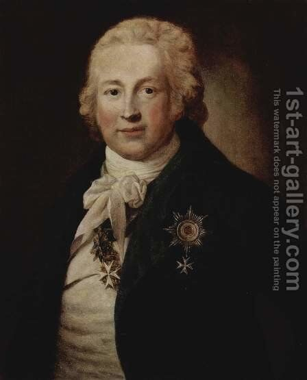 Portrait of Christoph Johann Friedrich Medem, Privy Councillor in the Russian service, and Russian Ambassador to Washington by Anton Graff - Reproduction Oil Painting