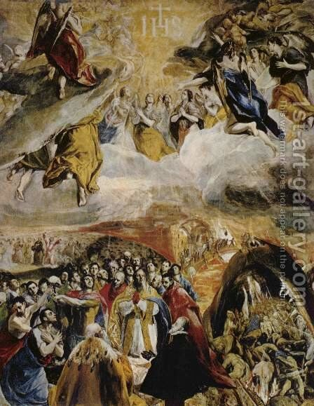 Allegory of the victory at Lepanto by El Greco - Reproduction Oil Painting