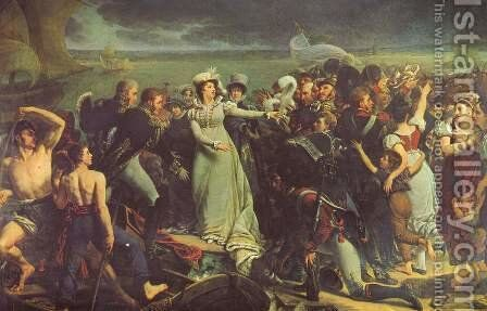 The Duchess of Angouleme embarks wine in Pauillac by Antoine-Jean Gros - Reproduction Oil Painting