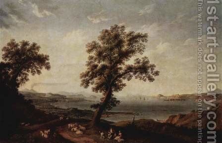 View of the Gulf of Baja by Jacob Philipp Hackert - Reproduction Oil Painting