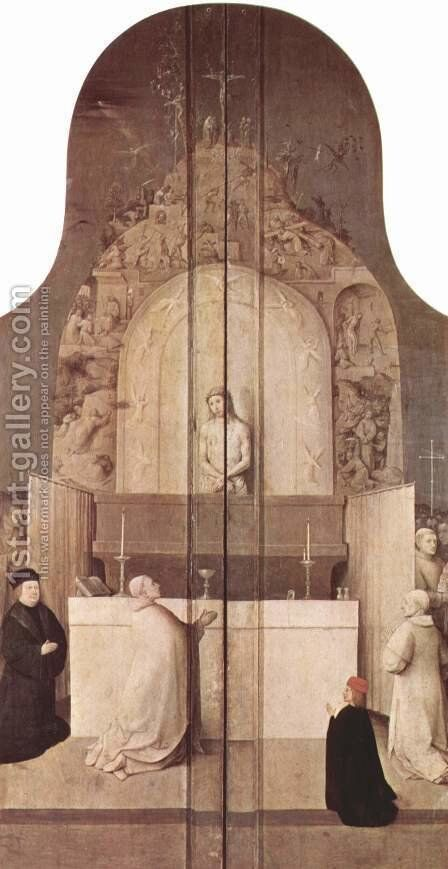 Saint Gregory's Mass by Hieronymous Bosch - Reproduction Oil Painting