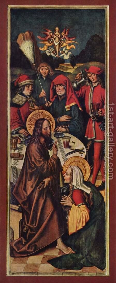 Christ in the House of Simon by Sigmund Holbein - Reproduction Oil Painting