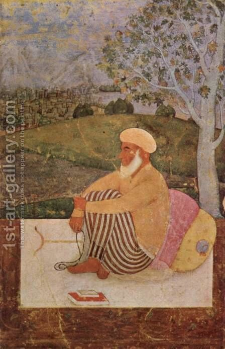 Maulvi in Meditation by Indian School - Reproduction Oil Painting