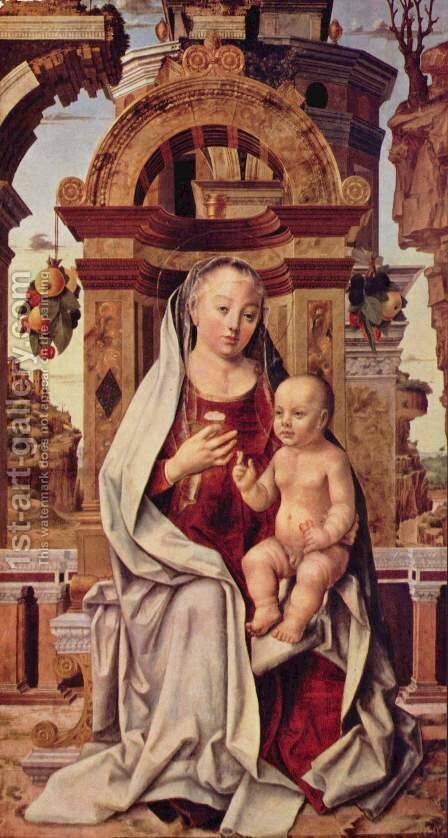Virgin and Child by Italian Unknown Masters - Reproduction Oil Painting