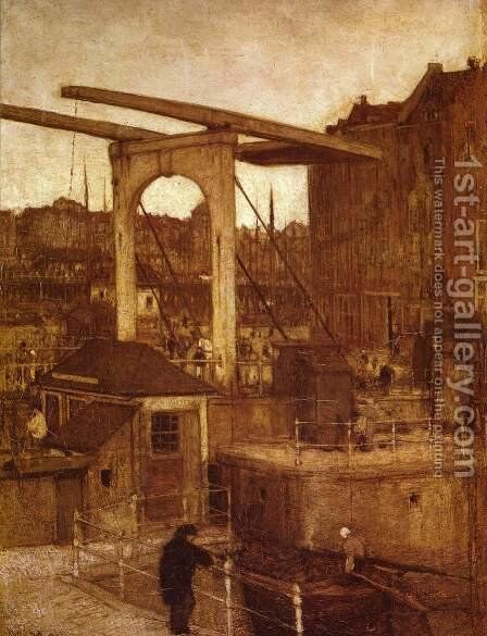 City View (view of Amsterdam) by Jacob Henricus Maris - Reproduction Oil Painting