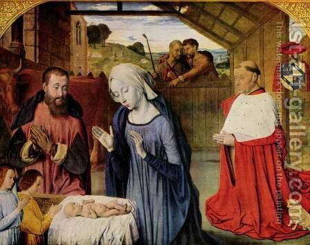 Birth of Christ and the Cardinal Rolin by Master of Moulins  (Jean Hey) - Reproduction Oil Painting
