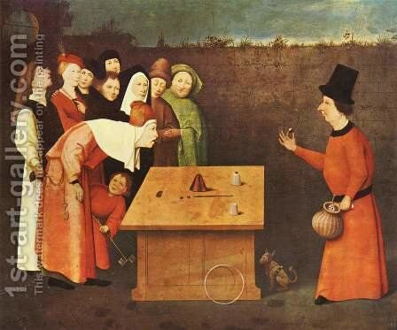 The Conjurer. Alternate title(s) The Magician. by Hieronymous Bosch - Reproduction Oil Painting