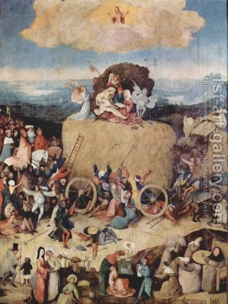 The Hay Wagon by Hieronymous Bosch - Reproduction Oil Painting