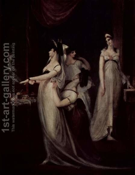 The stripping by Johann Heinrich Fussli - Reproduction Oil Painting