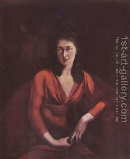 Portrait of Maddalena Hess of Zurich by Johann Heinrich Fussli - Reproduction Oil Painting