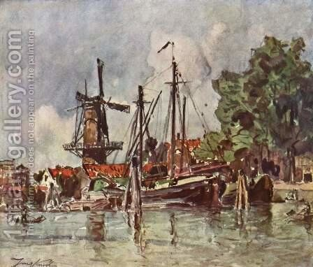 The village of Dover in Holland by Johan Barthold Jongkind - Reproduction Oil Painting
