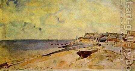 Beach of Sainte-Adresse by Johan Barthold Jongkind - Reproduction Oil Painting