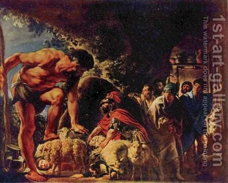 Odysseus in the Cave of Polyphemus by Jacob Jordaens - Reproduction Oil Painting