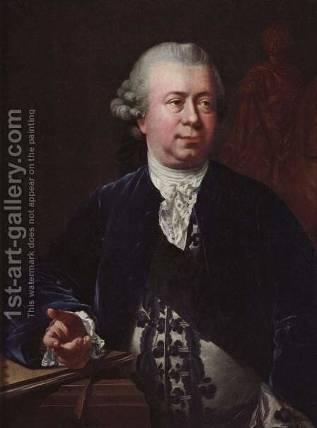 Portrait of Jacques-Francois-Joseph Saly by Jens Juel - Reproduction Oil Painting