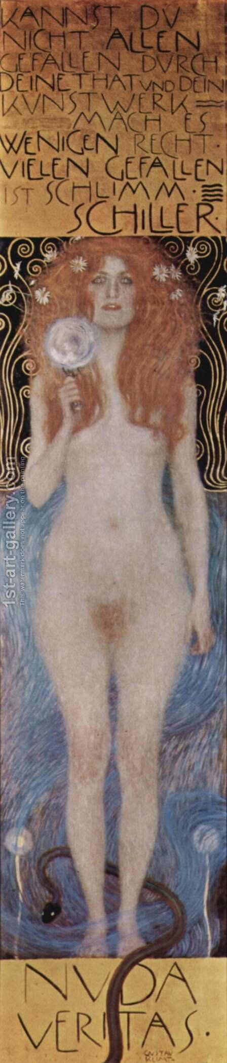 Nuda Veritas by Gustav Klimt - Reproduction Oil Painting