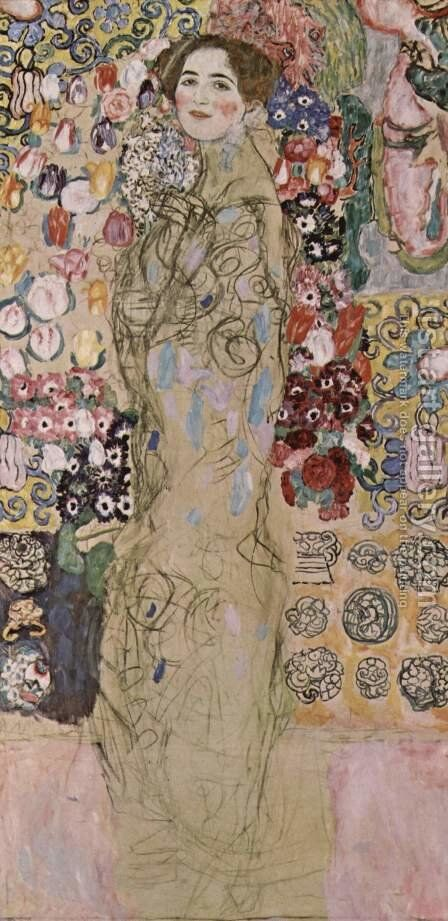 Portrait of Ria Munk III by Gustav Klimt - Reproduction Oil Painting