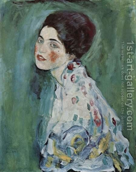 Portrait of a lady 2 by Gustav Klimt - Reproduction Oil Painting