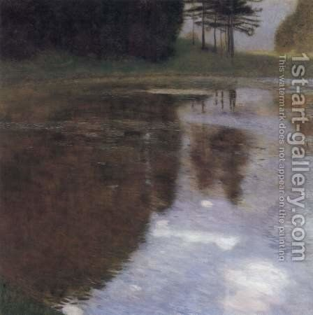 Quiet pond in the park of Appeal by Gustav Klimt - Reproduction Oil Painting