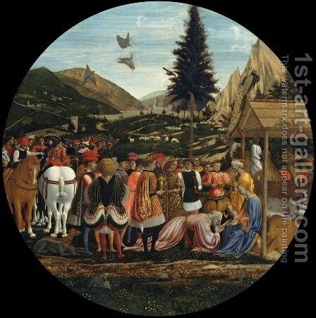 Adoration of the Magi 1440-43 by Domenico Veneziano - Reproduction Oil Painting