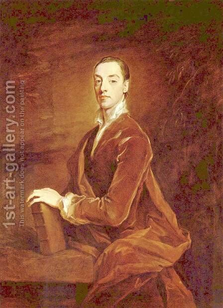 Matthew Prior by Sir Godfrey Kneller - Reproduction Oil Painting