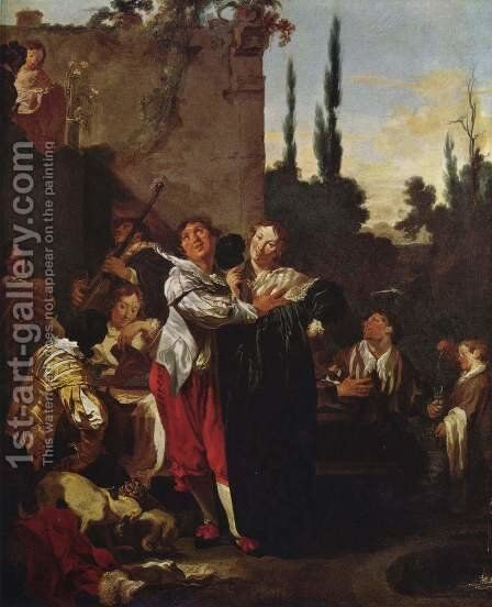 The prodigal son by Johann Liss - Reproduction Oil Painting