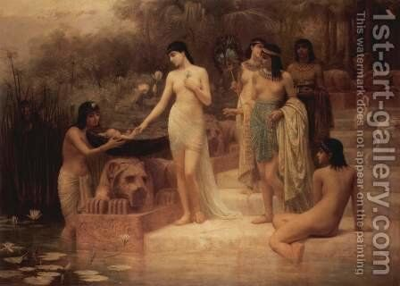 Pharaoh's Daughter - The Finding of Moses by Edwin Longsden Long - Reproduction Oil Painting