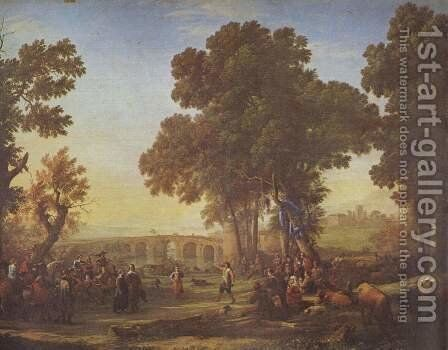 Rustic Dance by Claude Lorrain (Gellee) - Reproduction Oil Painting