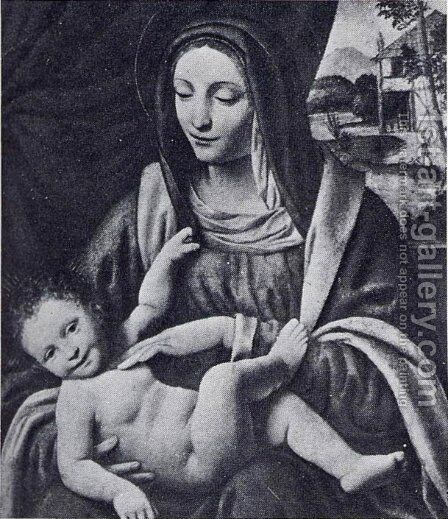 Madonna and Child 2 by Bernardino Luini - Reproduction Oil Painting
