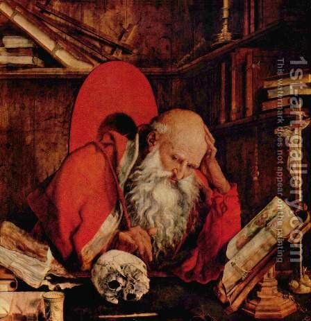 St. Jerome in the cell by Marinus van Reymerswaele - Reproduction Oil Painting