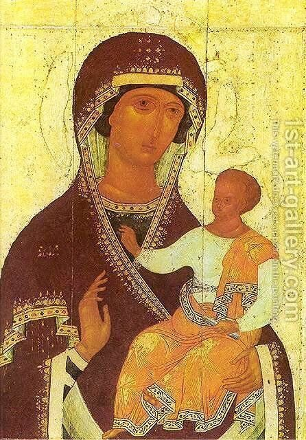 The Mother Of God Hodigitria 1502-03 by Dionysius - Reproduction Oil Painting