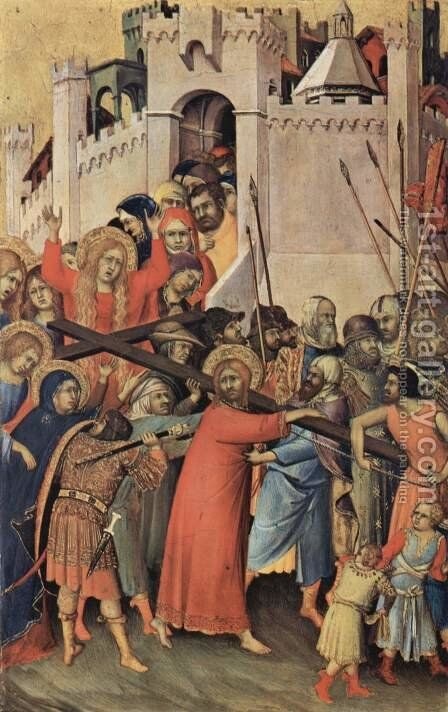 The Carrying of the Cross 2 by Simone Martini - Reproduction Oil Painting