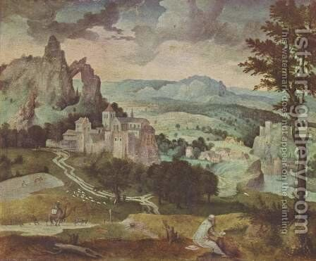 St. Jerome in a Landscape by Cornelis Massys - Reproduction Oil Painting