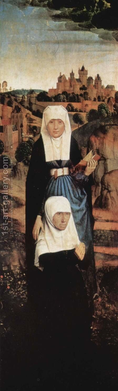 The Founder Praying with Saints by Hans Memling - Reproduction Oil Painting
