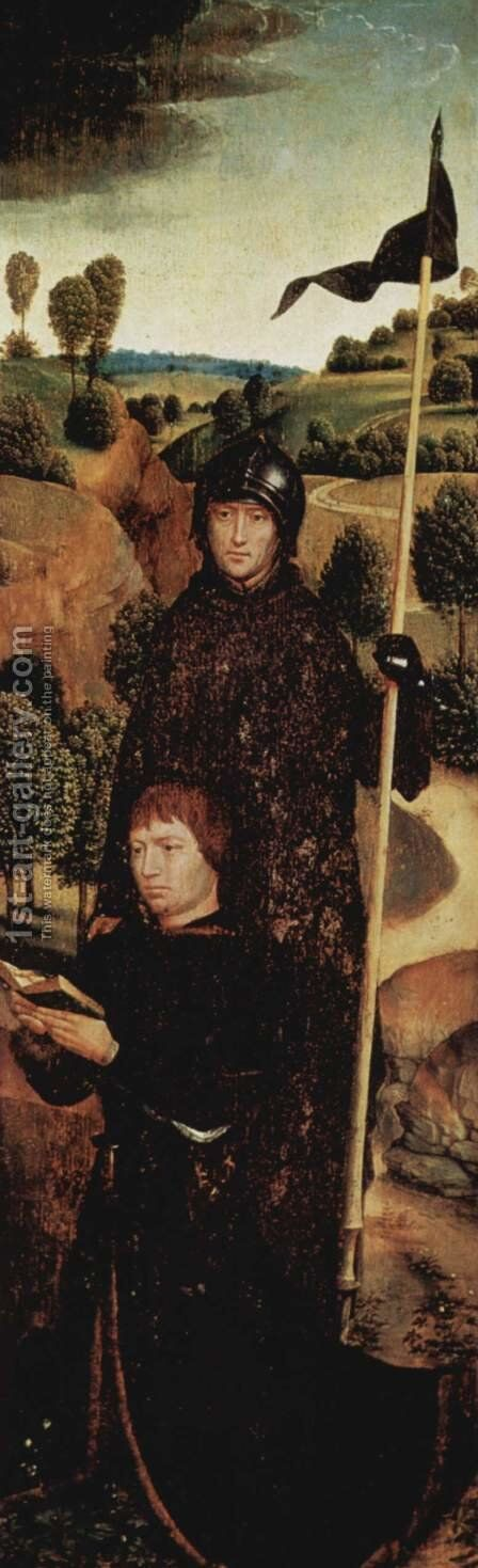 Donor Stifter with St. Wilhelm von Maleval by Hans Memling - Reproduction Oil Painting