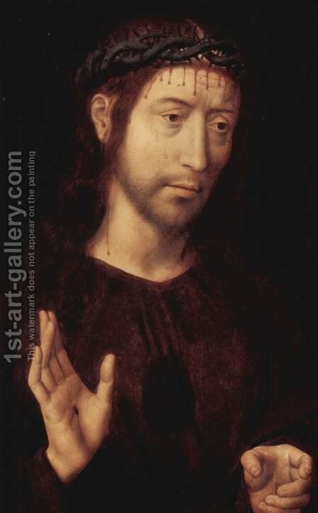 Christ crowned with thorns by Hans Memling - Reproduction Oil Painting