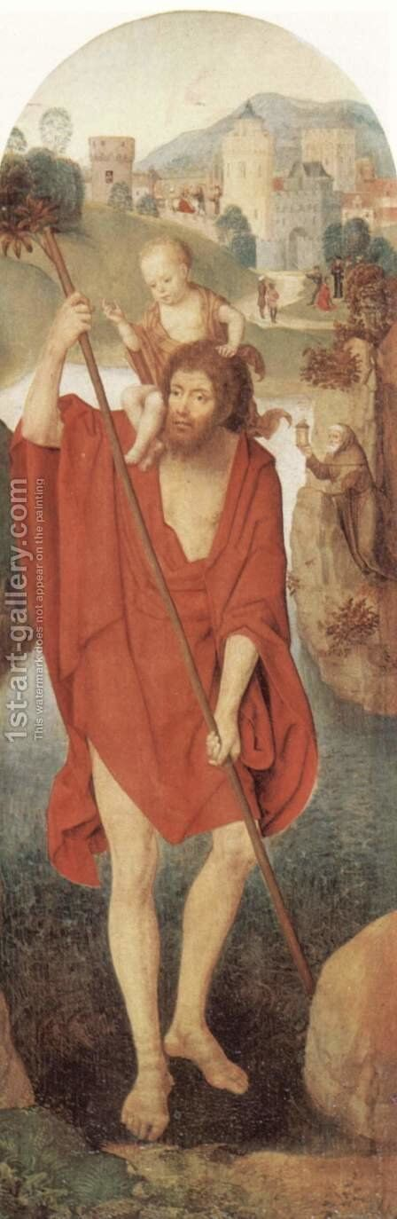 St. Christopher by Hans Memling - Reproduction Oil Painting