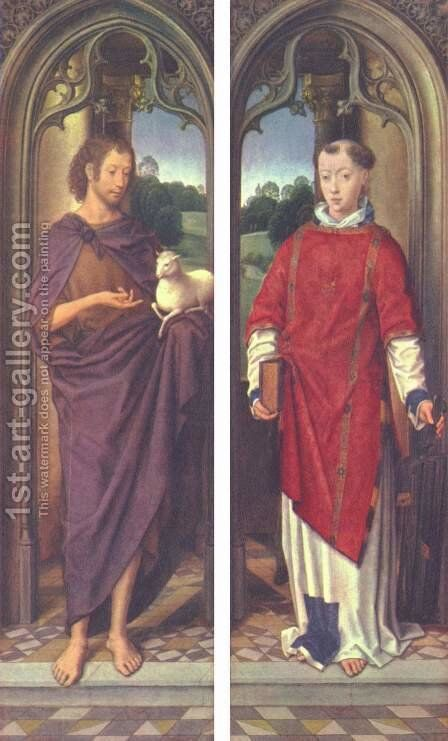 John the Baptist and St. Lawrence by Hans Memling - Reproduction Oil Painting