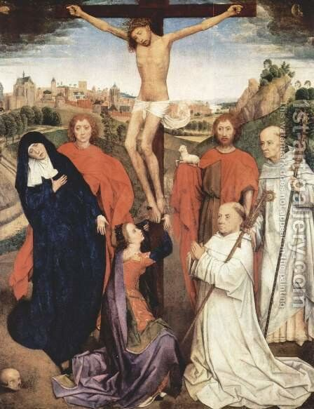 Crucifixion 2 by Hans Memling - Reproduction Oil Painting