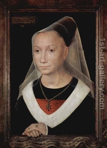 Portrait of a lady by Hans Memling - Reproduction Oil Painting