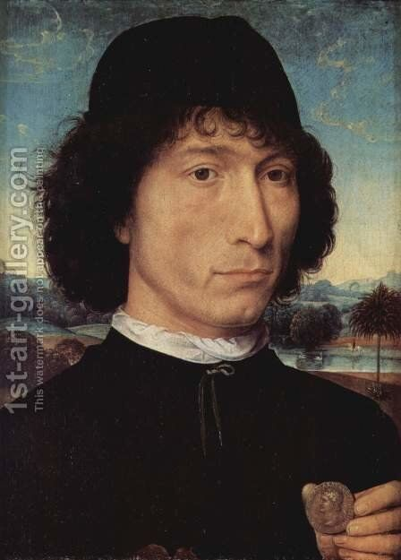 Portrait of a man with an ancient coin by Hans Memling - Reproduction Oil Painting