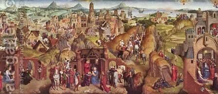 Scenes from the life of Mary by Hans Memling - Reproduction Oil Painting