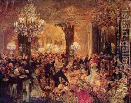 Ballsouper by Adolph von Menzel - Reproduction Oil Painting